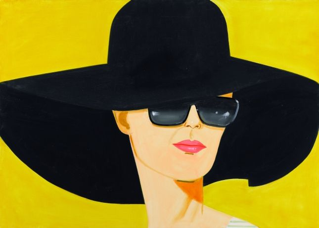 Alex Katz,Black Hat (Bettina) 2010,Oil on linenPrivate Collection, London© Alex Katz/Licensed by VAGA, New York, NYImage courtesy Galerie Thaddaeus Ropac, Paris - Salzburg