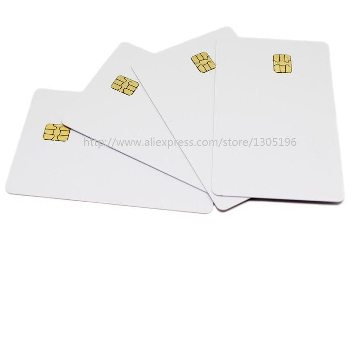 (10ピース/ロット) sle 4442チップpvcスマートカードブランクicカードiso7816