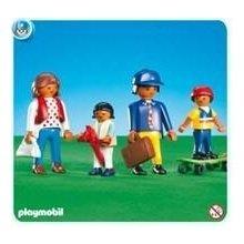 Playmobil ethnic families (Hispanic/Mediterranean, Asian, African American)