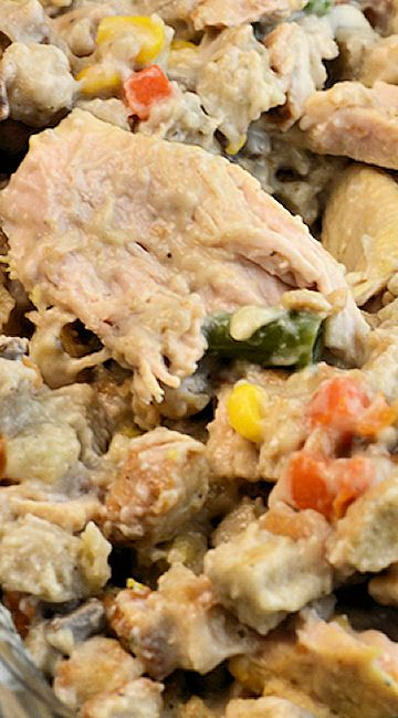 Thanksgiving Instant Pot Turkey Casserole