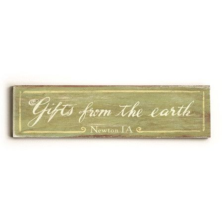 Personalized Gifts From The Earth Wood Sign