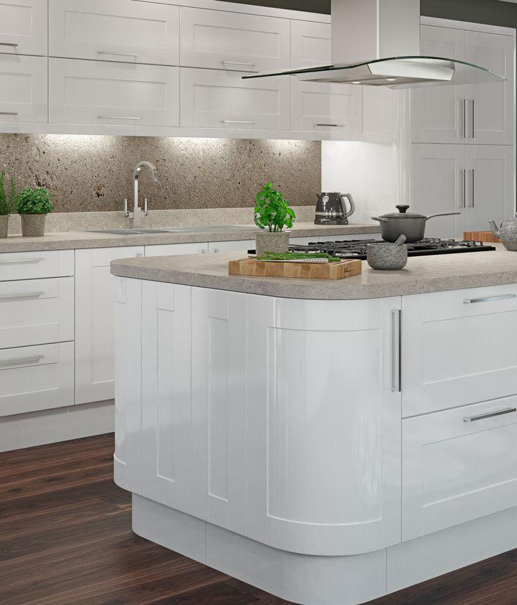 White Gloss Kitchen Grey Worktop: Best 25+ White Gloss Kitchen Ideas On Pinterest