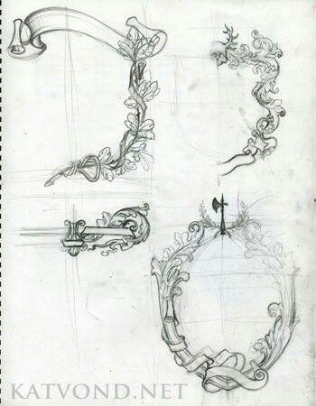Kat Von D Border Sketch