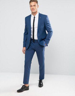 Burton Menswear – Schmaler Anzug mit Struktur