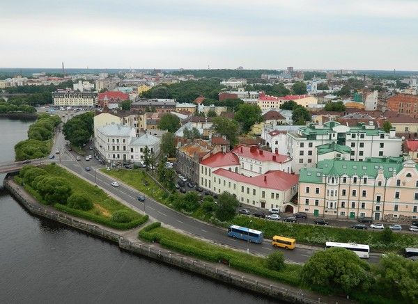 Russian: Выборг, is a town and the administrative center of Vyborgsky District in Leningrad Oblast, Russia, located on the Karelian Isthmus near the head of the Vyborg Bay, 130 kilometers (81 mi) to the northwest of St. Petersburg and 38 kilometers (24 mi) south of Russia's border with Finland, where the Saimaa Canal enters the Gulf of Finland.
