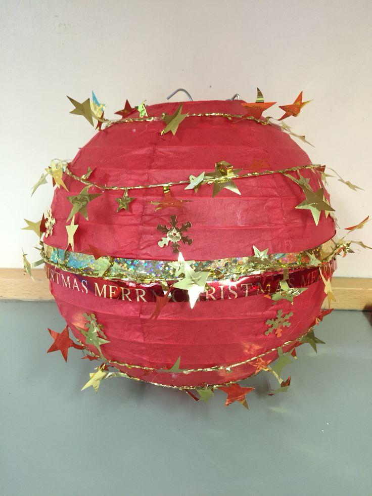Giant christmas bauble decoration