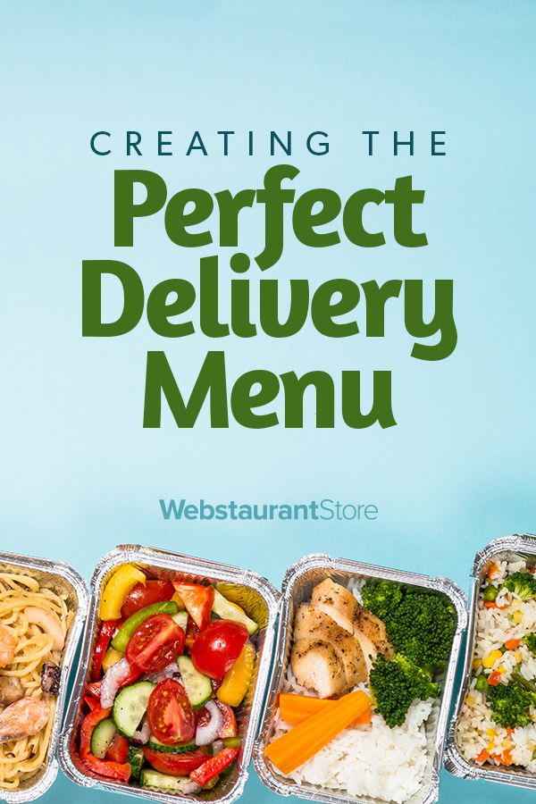 Adapting Your Menu For Delivery In 2020 Delivery Menu Food Words Food