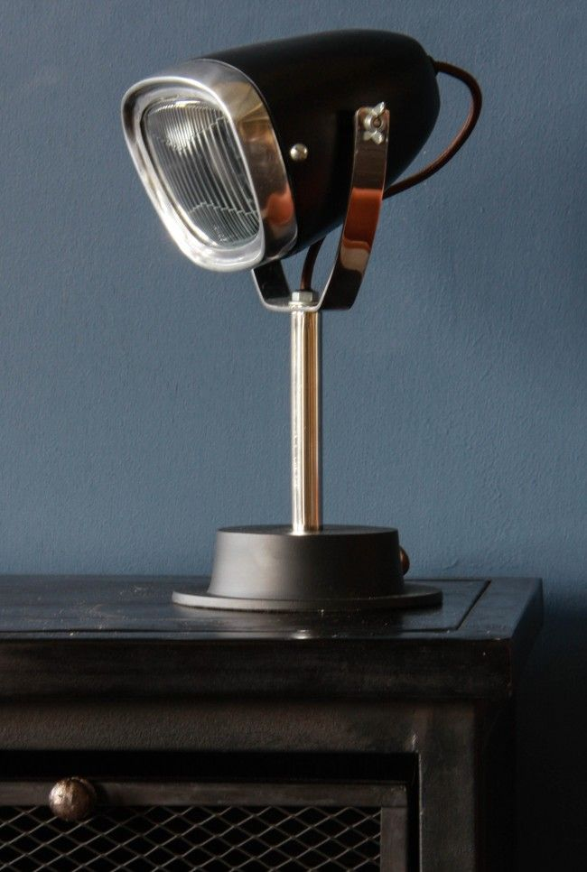 Industrial Vespa Lamp - This quirky but uber cool table lamp would light up  any room
