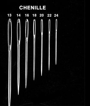 Hand sewing Needle sizes and shapes