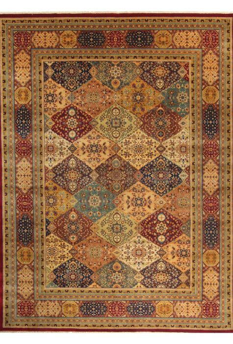 Saroogh Indian rug. Wool. Hand Knotted. 277 x 371 http://www.rugman.com/indian-saroogh-design-oriental-area-rug-palace-size-wool-multi-color-rectangle-300-20783