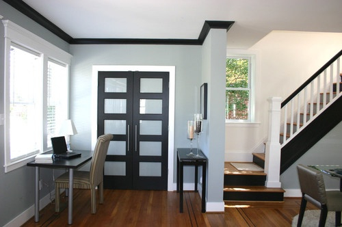 love the black crown molding - Old Harford - contemporary - closet - baltimore - Charleene's Houses, LLC
