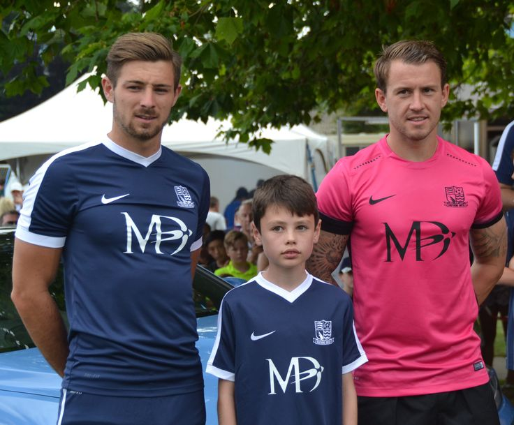 Meet the Blues Day July 24th 2016.  Presenting the New Home & Away kit for the 2016/17 Season. Pictured:Ryan Leonard (Home) Simon Cox (Away)