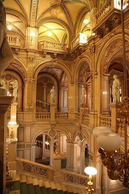 The State Opera House, Vienna, Austria ...  I have been here !   Acoustics, ambiance .... Amazing !!