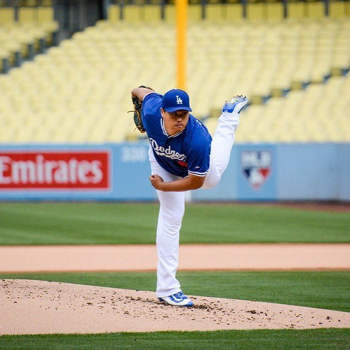 THINK BLUE: Happy #cincodemayo my #dodger friends! Good news! Ryu threw a bullpen today at #dodgerstadium! He had batters stand in the box as trainers watched him pitch. #Dodgers aren't putting a timetable on his return but this is a good sign. We could see #Ryu in some minor league games as early as this month! by dodgersdugoutclub