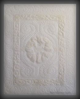 Wedding dress quilt for Paulette by Mary Manson Quilts