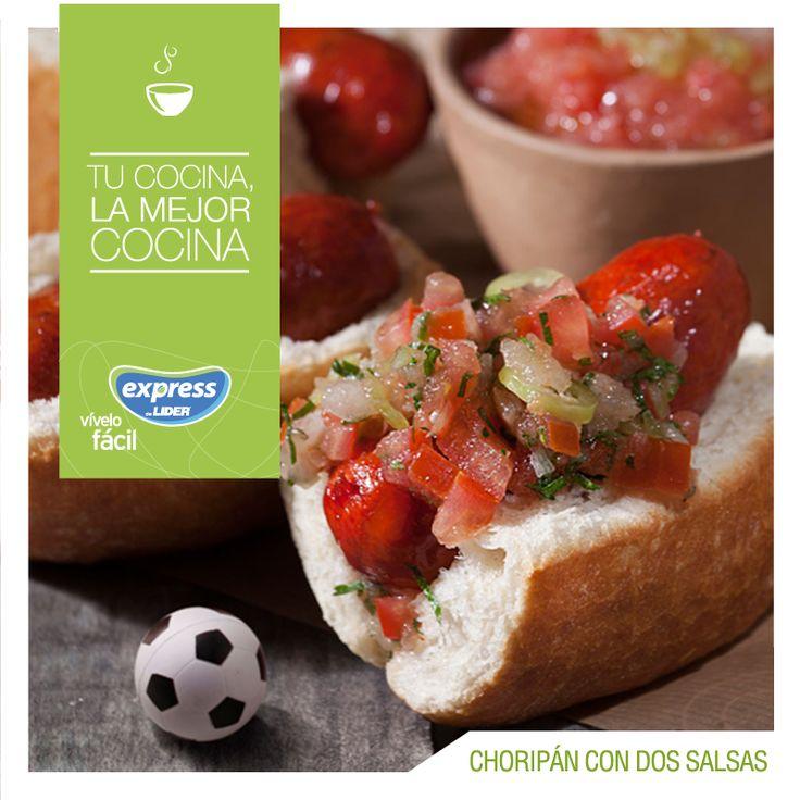 Chile: Choripan con dos salsas #Recetario #Receta #RecetarioExpress #Lider #Food #Foodporn #ChileanFood #Choripan #Pebre