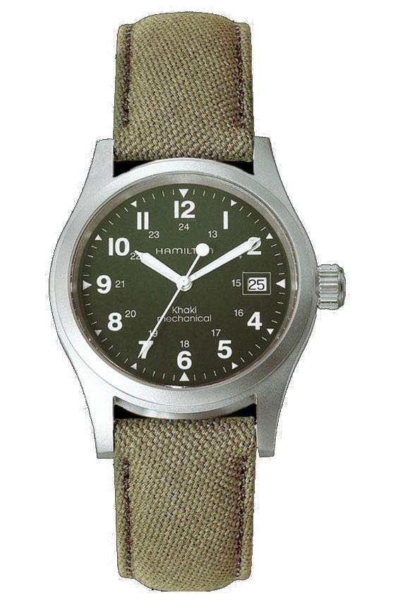 Khaki Field Mechanical Officer by Hamilton. Simplicidad y comodidad, mi reloj favorito, además es muy suave al tacto.