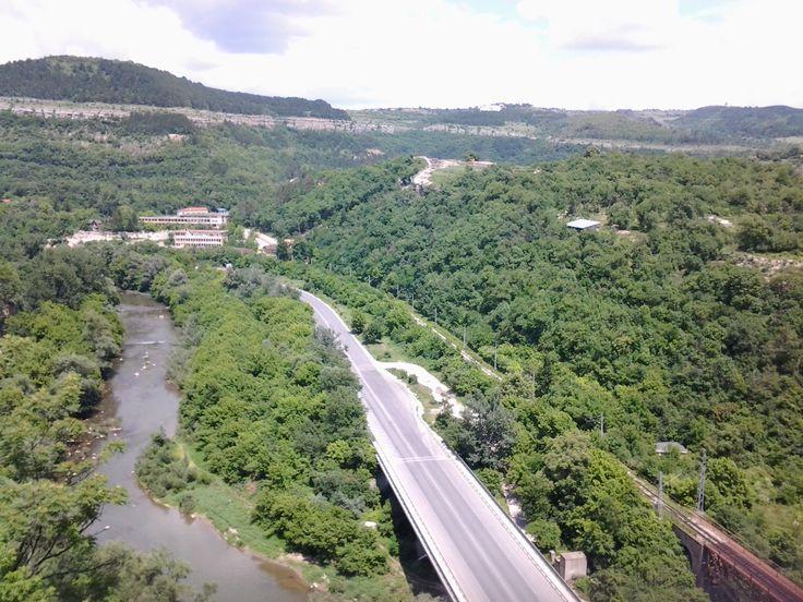 view from Grand Hotel Yantra**** Veliko Tarnovo, Bulgaria #goodatservice.com