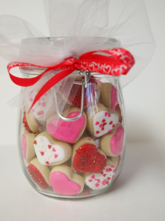 Valentine's Day Cookie Gems by AuntieBeasBakery on Etsy, $18.00