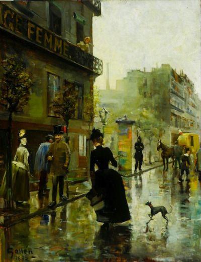 Parisian Boulevard, 1885, Akseli Gallen-Kalela