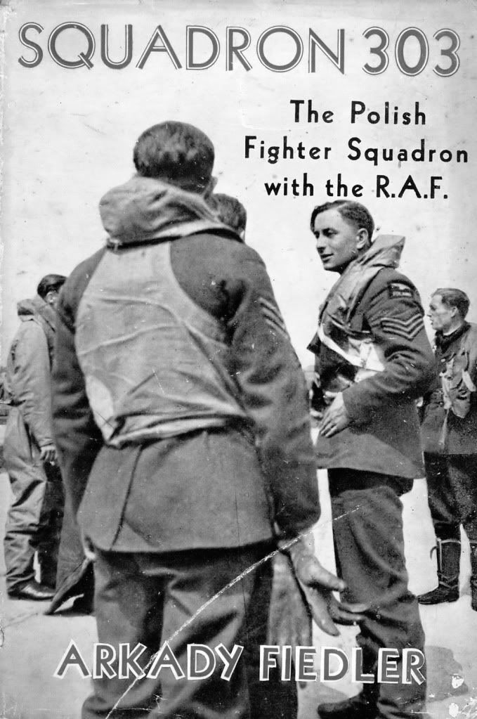 Pilots of 303 Squadron 'The Polish Squadron' on the cover of the book about 303 Squadron published in August 1942.