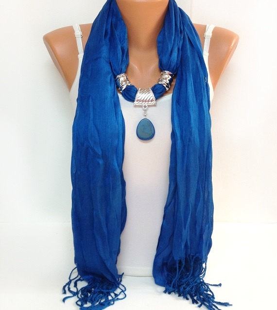 royal blue jewelry scarf