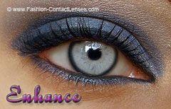 Stormy Grey Enhanced Contact Lenses