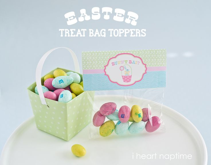 Bunny Bait Printable Easter Bag Toppers I Heart Nap Time | I Heart Nap Time - How to Crafts, Tutorials, DIY, Homemaker