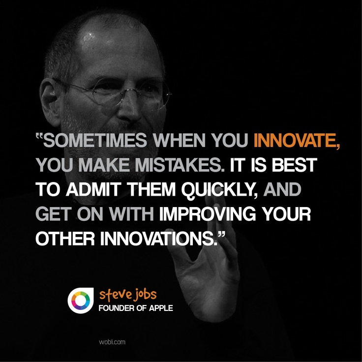 Innovation Quotes: Steve Jobs On Innovation And Making Mistakes