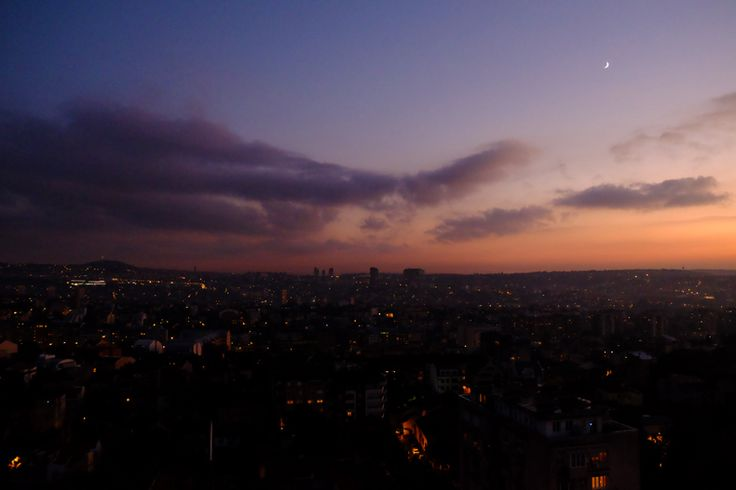 Sunset over Belgrade   Architecture Belgrade Cities
