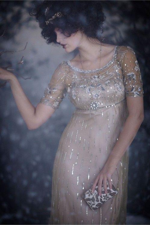 silver lined art nouveau dress