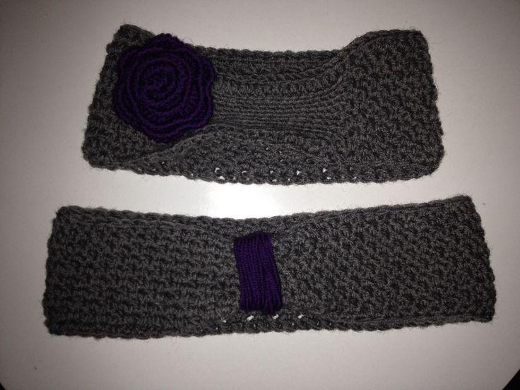 Crochet wool headband