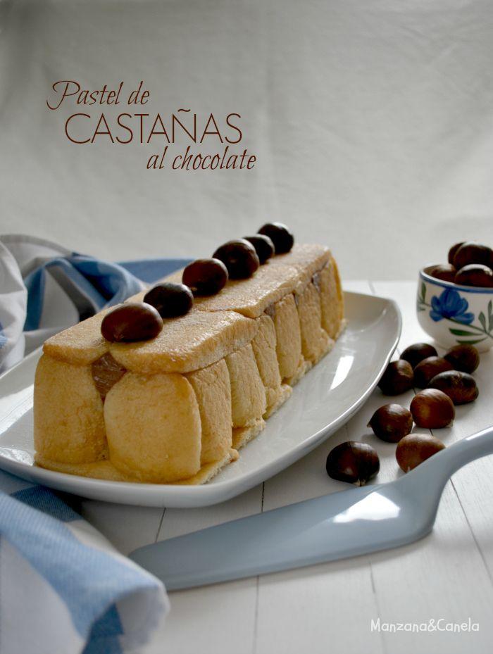 Pastel de castañas y chocolate - Manzana&Canela