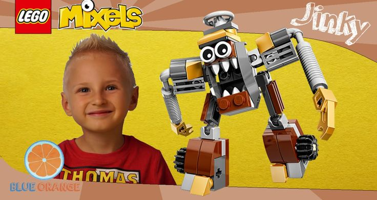 Lego Mixels Jinky set no 41537 | Mixels series 5 Klinkers | Blue Orange