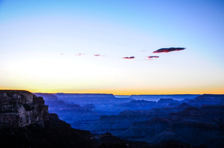 Small Dusk Clouds Over The Grand Canyon