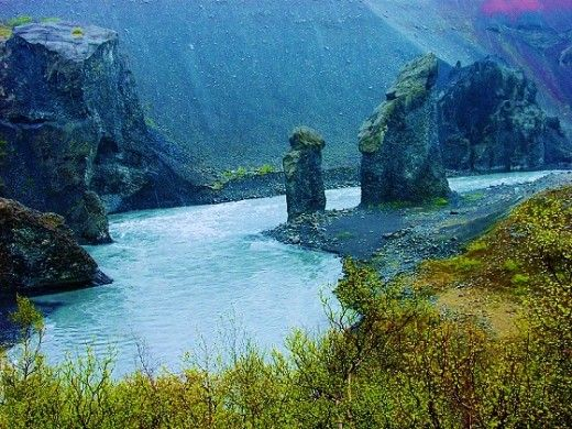 """Huldufólk - Iceland's Belief in Elves Among the old beliefs that held on was a strong connection with the Landvættir and Huldufólk - the """"Land Wights"""" and """"Hidden People.""""  Picture > Jökulsárgljúfur National Park, Iceland"""
