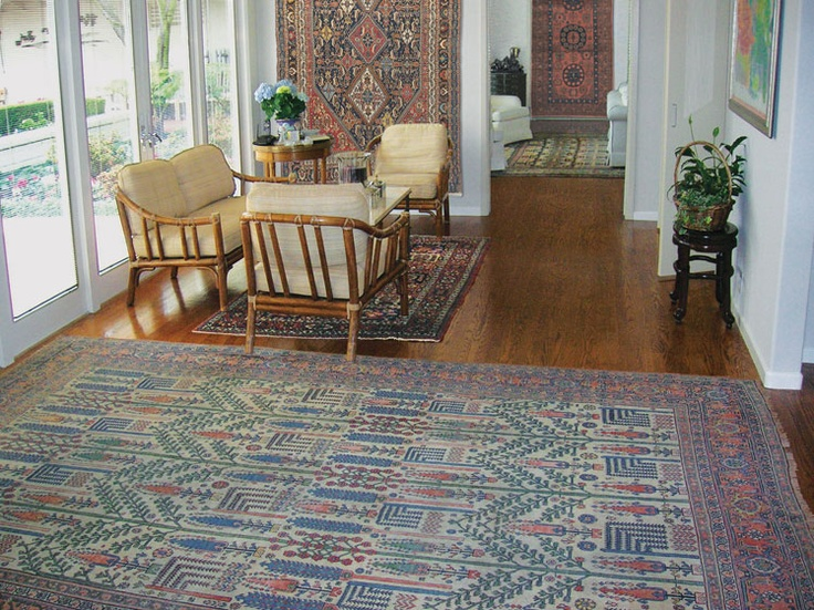 One Of A Kind Antique Carpets And American Impressionist Paintings Are This S Wall Rugsroom