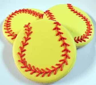 Flour Box Bakery — Softball Cookie Favor