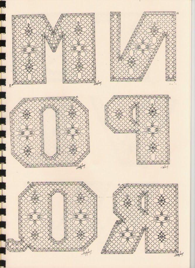 Alphabet M à R Torchon