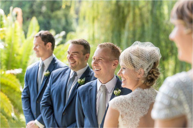 ceremony laughter! adelaide wedding photography, adelaide botanic gardens, outdoor wedding. www.gpix.com.au