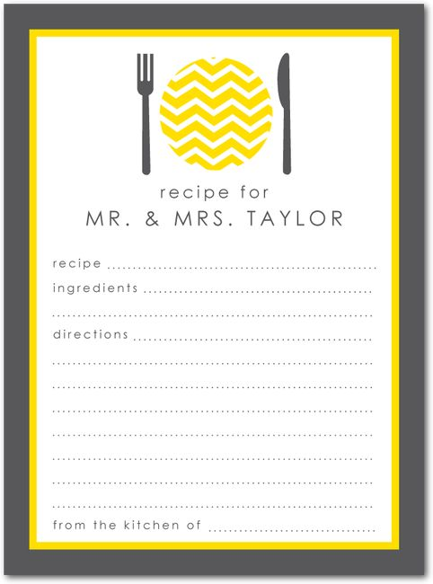 Love this idea for Bridal Showers- A friend did this and then made up a taste book from Epicurious.com just great ideas!