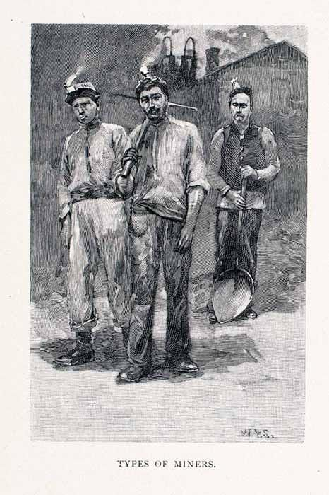 1891 Wood Engraving Lota Chile Coal Miners Costume Chilean Chilenos Mi - Period Paper
