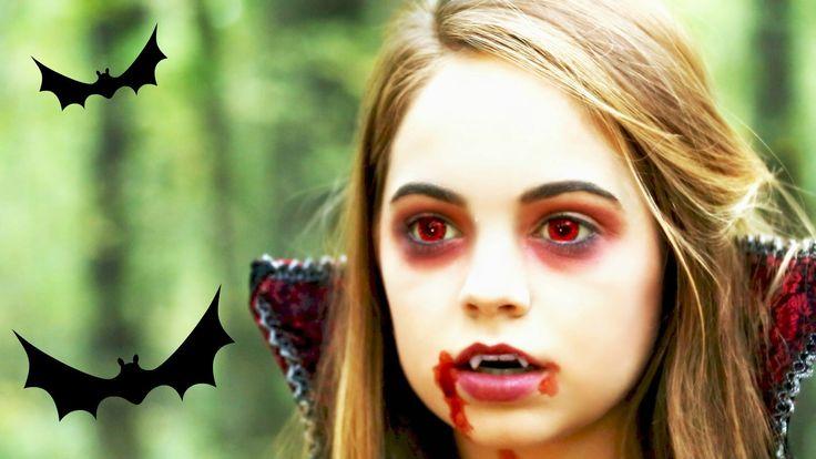 Vampyrpige med røde øjne.