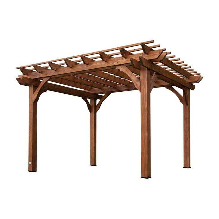 Backyard Discovery 10 ft. x 12 ft. Cedar Pergola, Browns/Tans