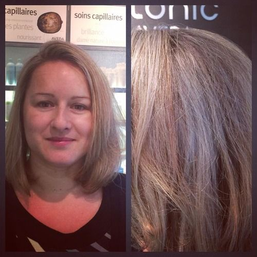Stephanie needed a refresh on her highlights, we amped up the colour to a soft platinum