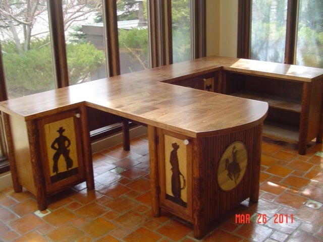 Cowboy desk for two.