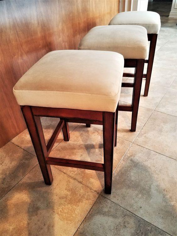 How To Reupholster A Bar Stool Seat Furniture Bar Stool Seats