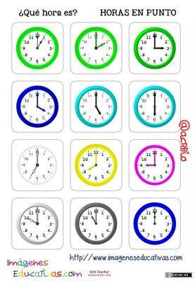 fichas de relojes analógicos. (4)
