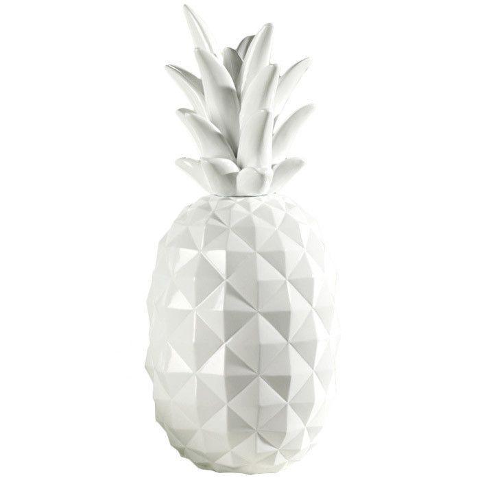 Image result for white pineapple decor
