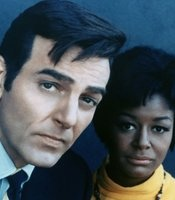 Mike Connors played the lead in the innovative crime drama Mannix for an 8-year run. Pictured here with his co-star Gail Fisher.
